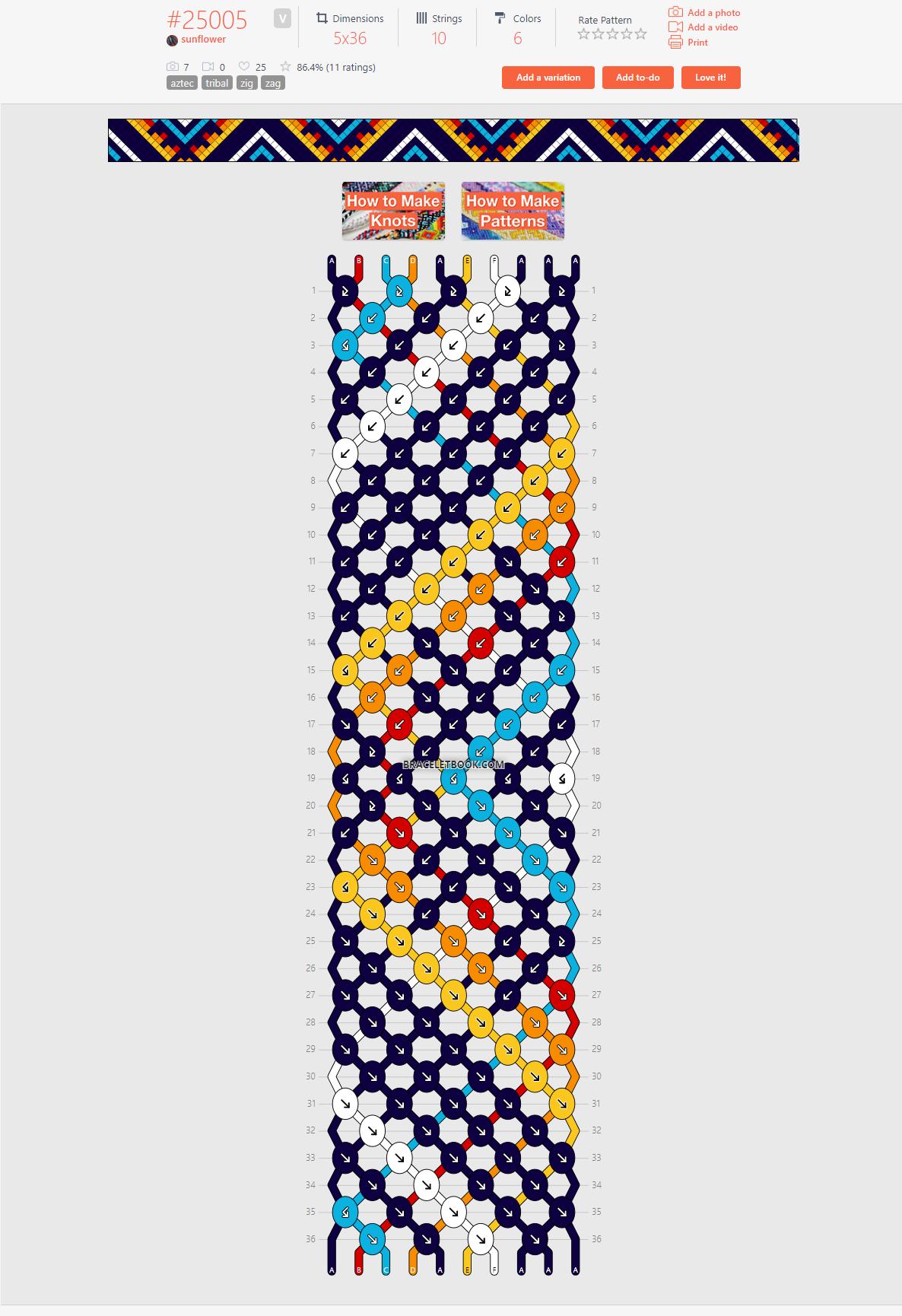 25005 bracelet - triangle burst variation
