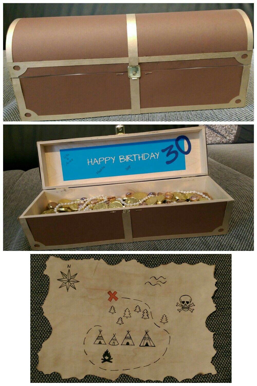 Geschenk 30. Geburtstag Schatzsuche   Geschenke   Pinterest ...