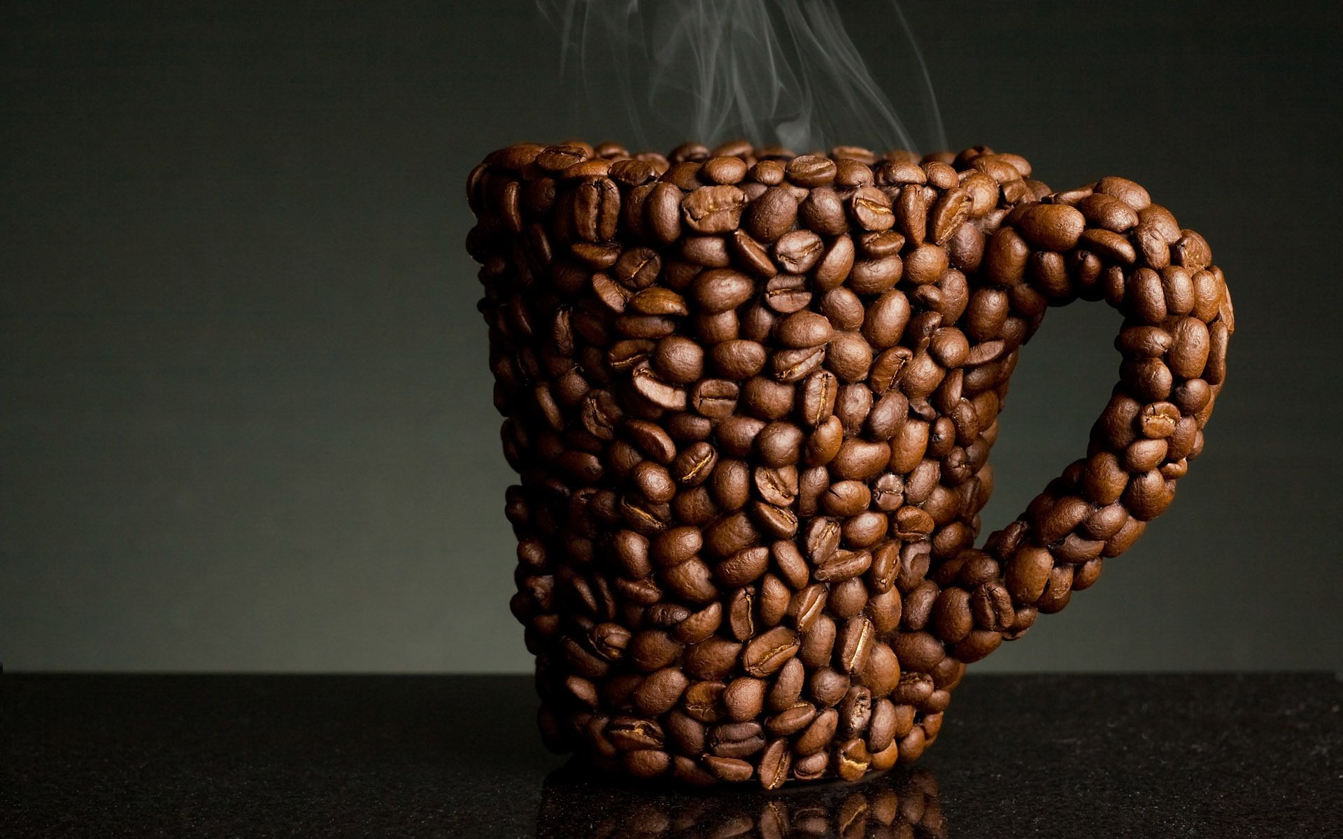 Coffee Cup Made Out Of Coffee Beans Genius Verve Coffee