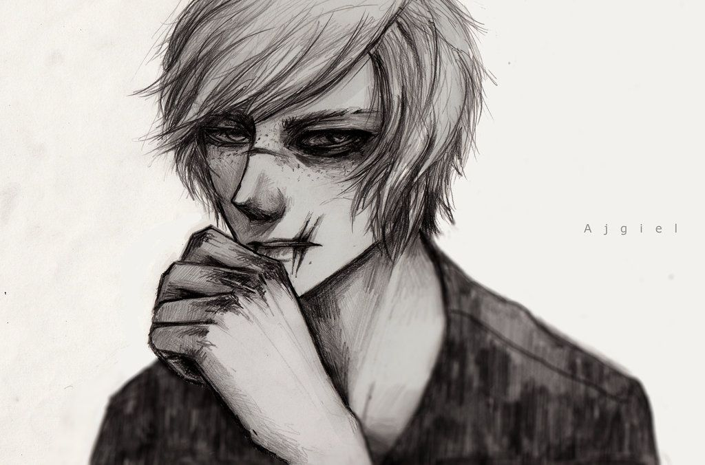 Bad Boy Drawing People Realistic Art Character Design Male