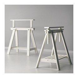 FINNVARD Pukkijalka+hylly - valkoinen - IKEA, säädettävä korkeus 71 - 93 cm , enimmäiskuormitus 50 kg