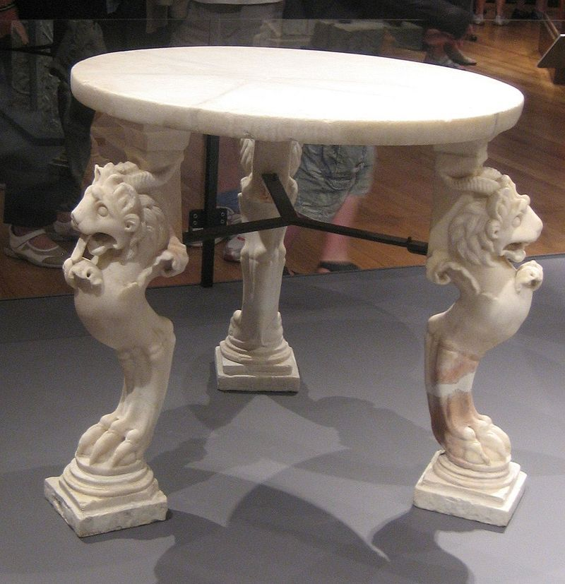 Marble Table From Pompeii Ancient Furniture Wikipedia The Free Encyclopedia Pompeii Marble Table Ancient Chinese Architecture