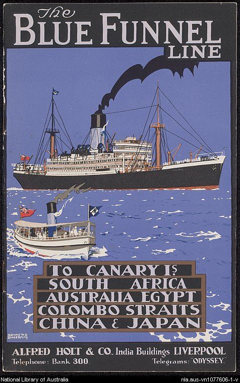Photo of [Shipping – Blue Funnel Line : ephemera material collected by the National Library of Australia].