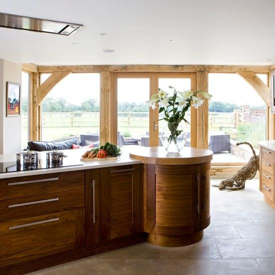 Walnut and timber kitchen | Traditional kitchen decorating ideas ...