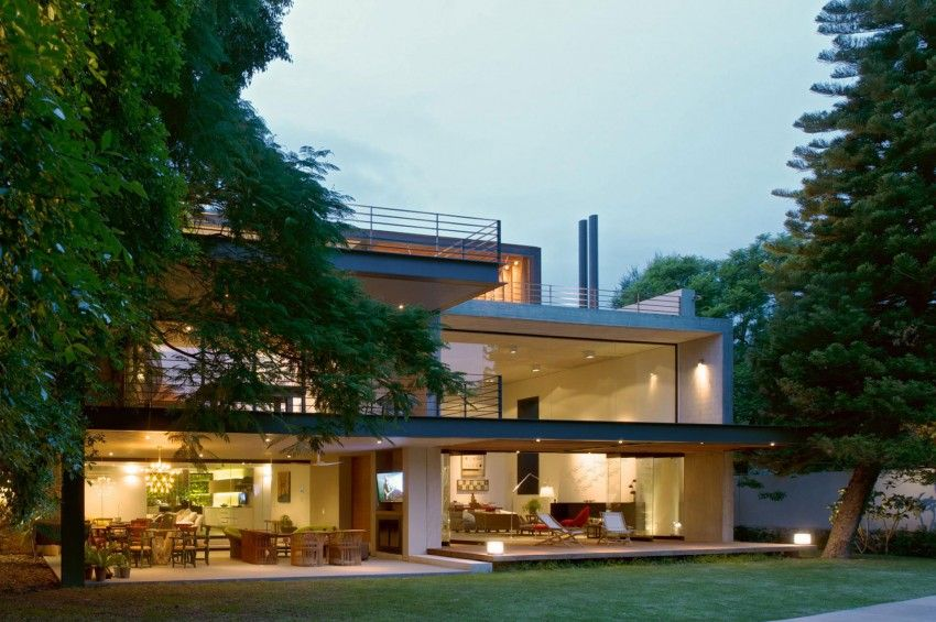 Maison Moderne Bois Et Beton