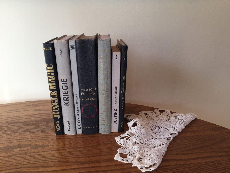 Black Grey Book Stack, Black Books, Black Grey Gold Books, Vintage ...