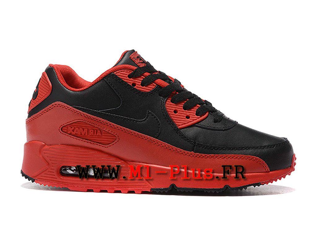 buy popular ff915 953f2 Nike Air Max 90 Officiel pas cher pas cher Jacquard ID Chaussures Pour  Homme Noir et