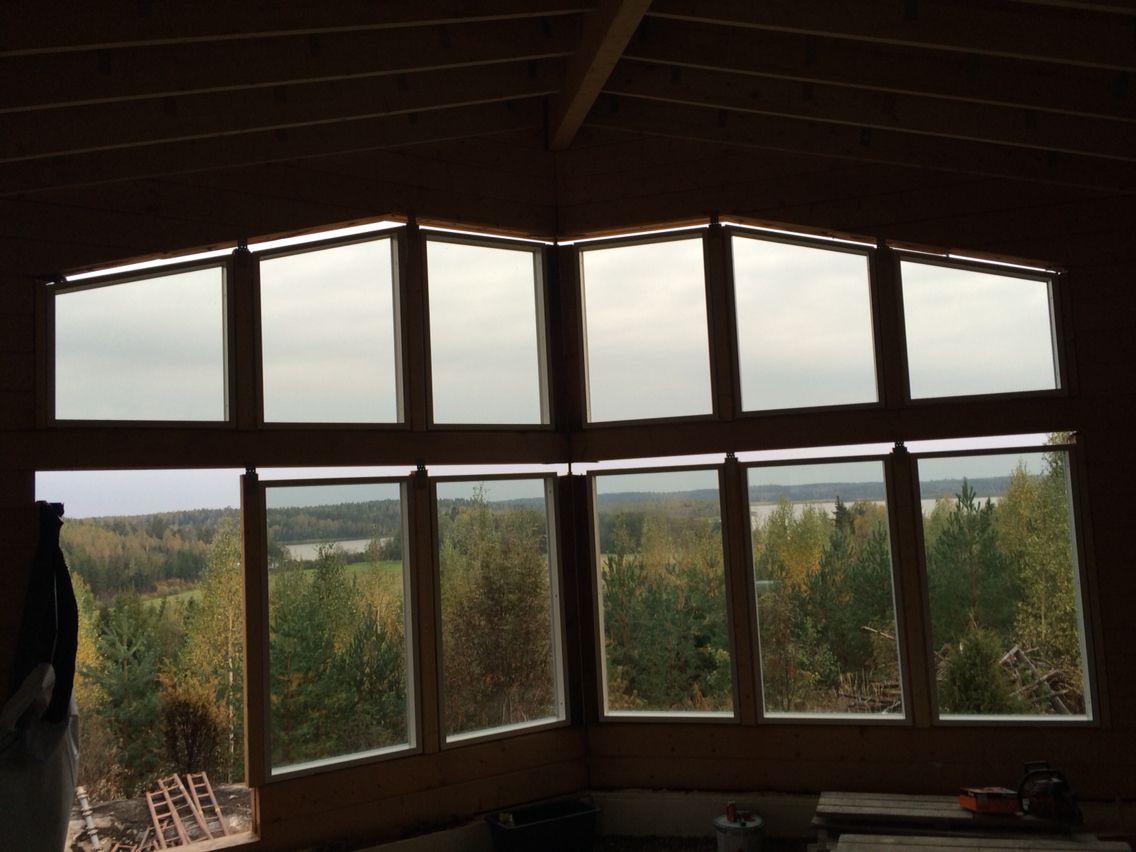 Ikkunoiden asennus