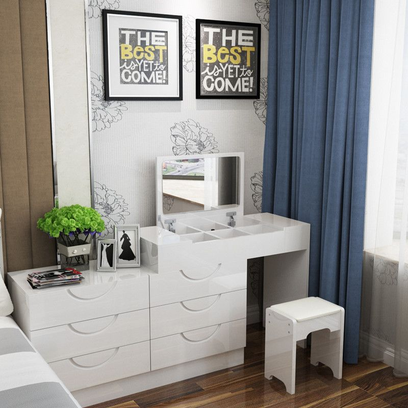 Flip commode huxing petit maquillage moderne simple table chambre ...
