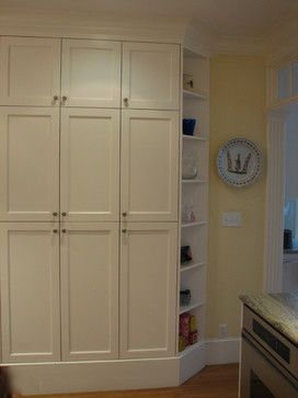 Shallow Pantry Design Ideas, Pictures, Remodel, and Decor #pantrycabinet