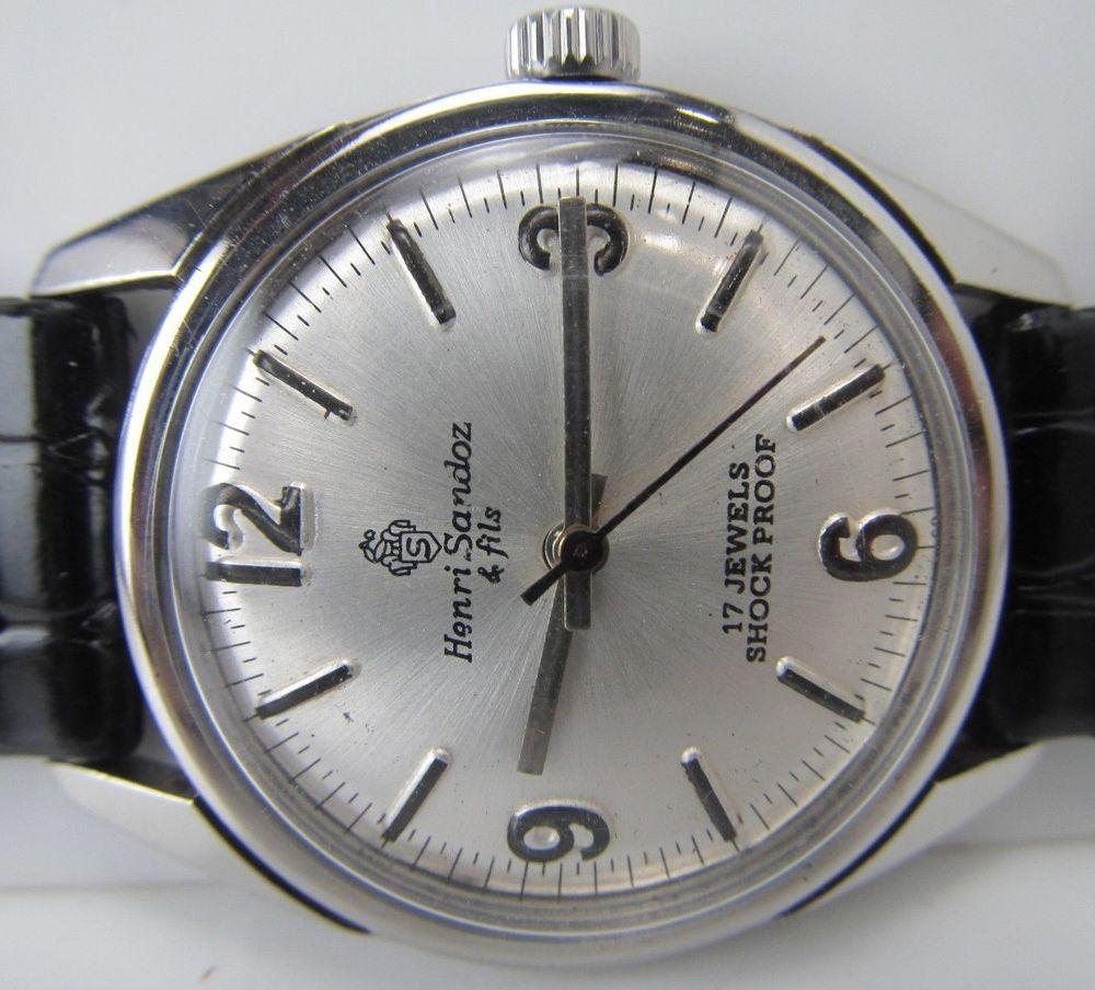 Watch wrist parts - Vintage Rare Gents Henri Sandoz Fils Men S Watch Wrist 875 In Jewelry Watches Watches Parts Accessories Wristwatches Ebay
