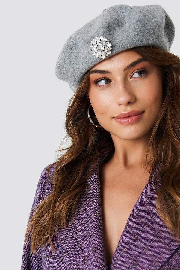 bb4b6a64362 Na Kd Accessories Embellished Beret Hat