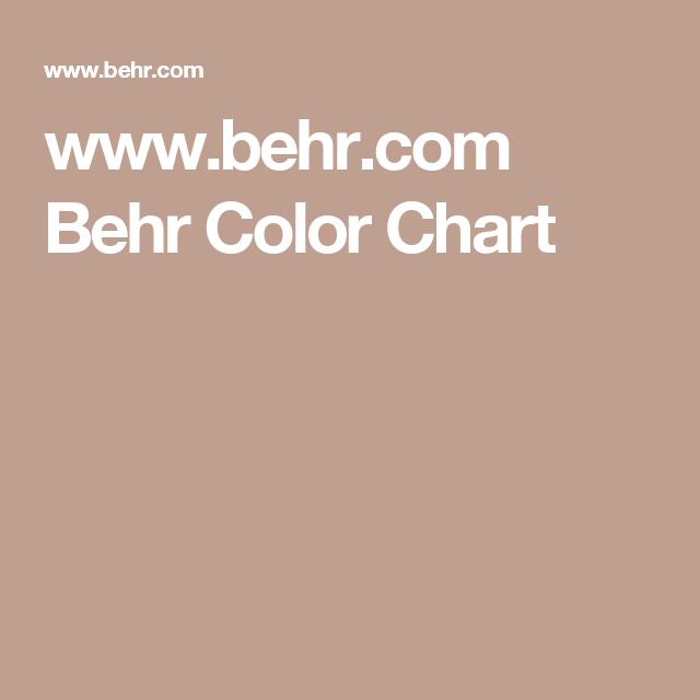 Www Behr Com Behr Color Chart Paint Color Chart Behr Colors