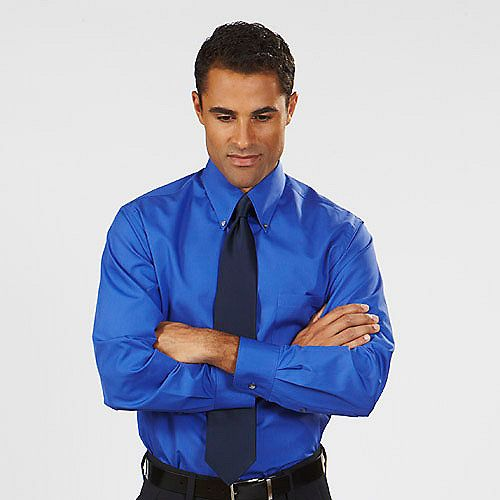 mens blue shirt | Real Men Wear Blue | Pinterest | Sleeved dress ...
