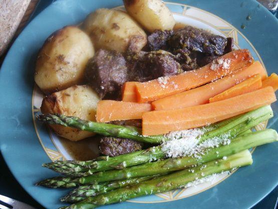 Balsamic Asparagus Recipe Food Recipes Vegetable