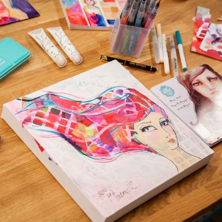 Jane Davenport Inkredible Pen Paper Crafts Art Journal