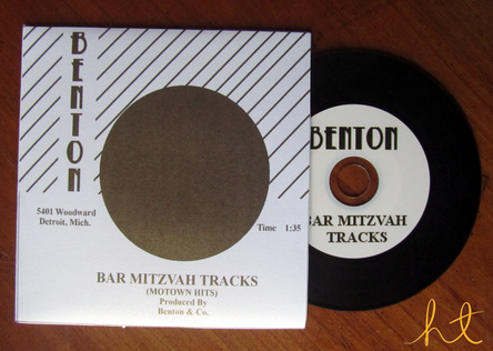 Motown Themed party favors by Heather Todero Events #barmitzvah #motown #record