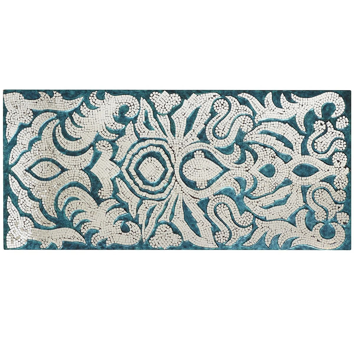 Teal Mirrored Mosaic Damask Panel | Pier 1 Imports ...
