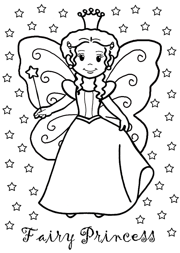 fairy princess coloring page sunshine coloriage enfant coloriage enfant. Black Bedroom Furniture Sets. Home Design Ideas