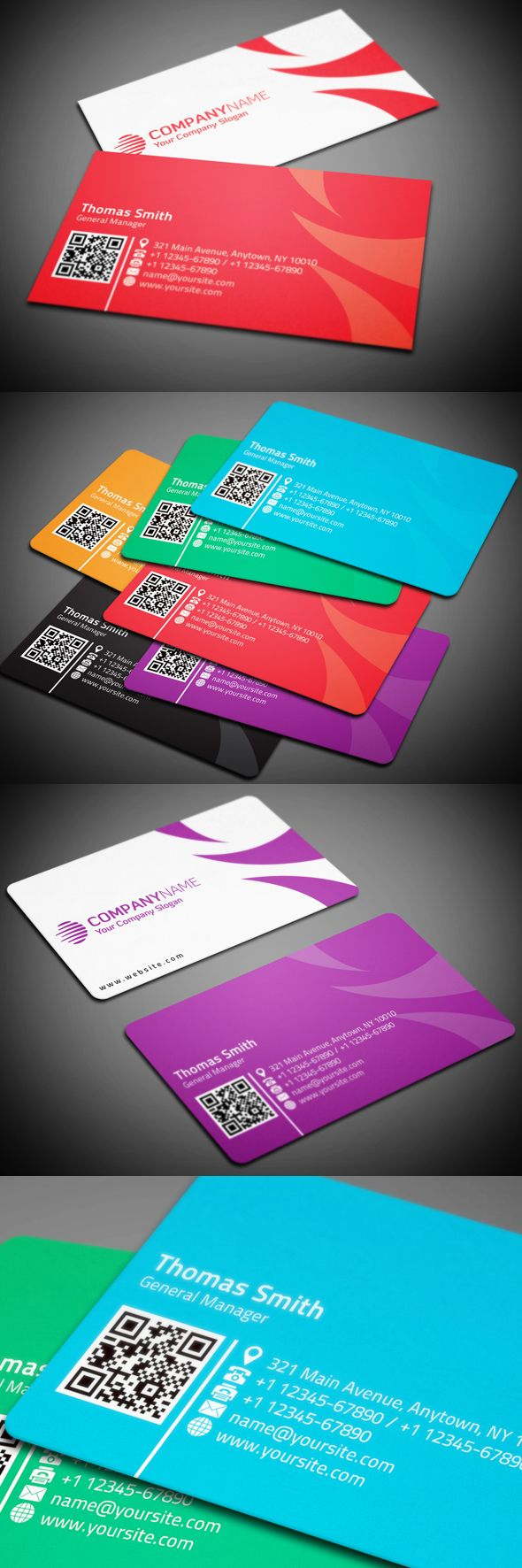 Corporate Business Card By Mohammad Ali Via Behance Black