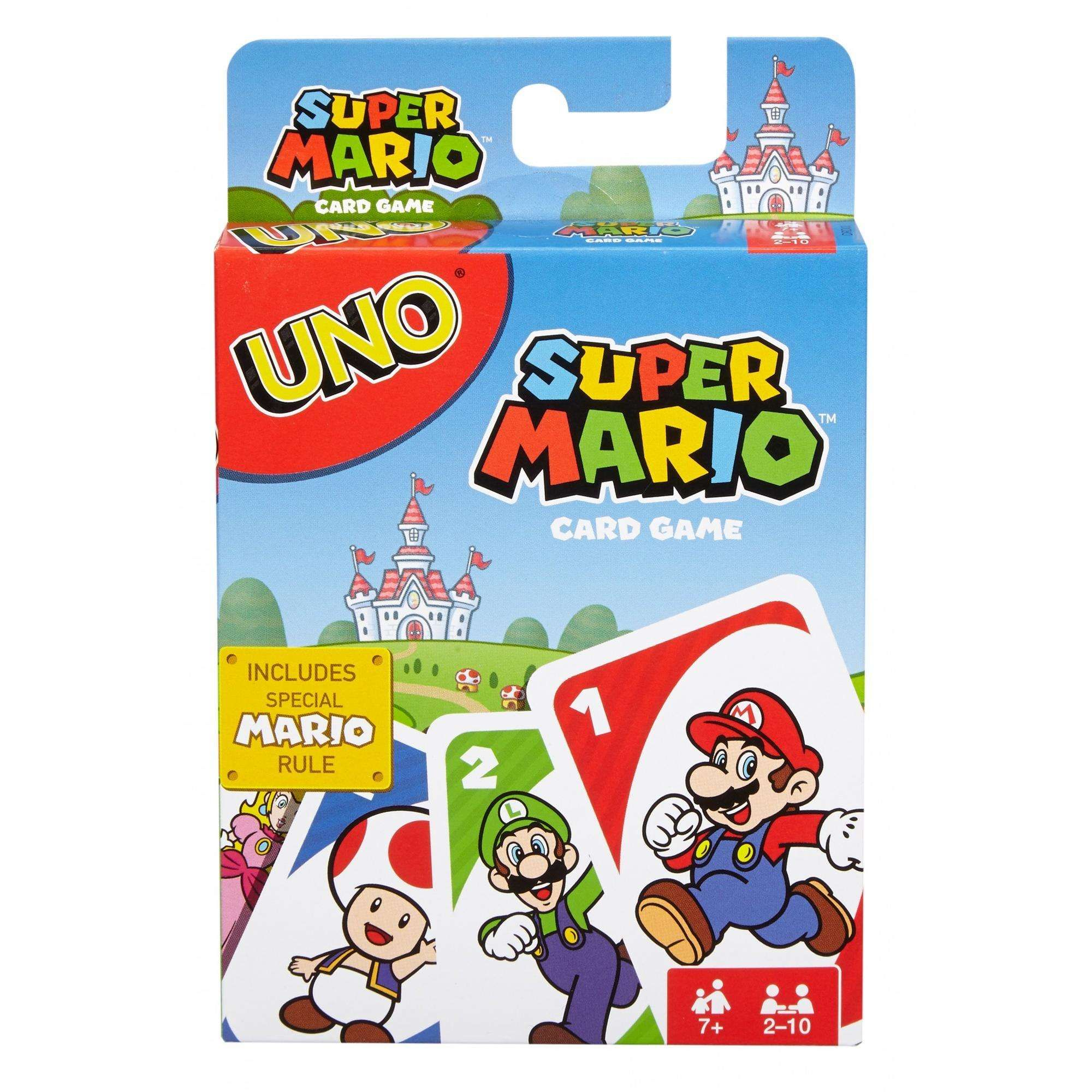 Uno Card Game Super Mario Theme For 2 10 Players Ages 7y Walmart Com Uno Card Game Card Games Super Mario Bros