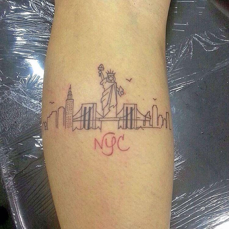 Tattoo Ideas New York: 20 Magnificent Skyline Tattoos