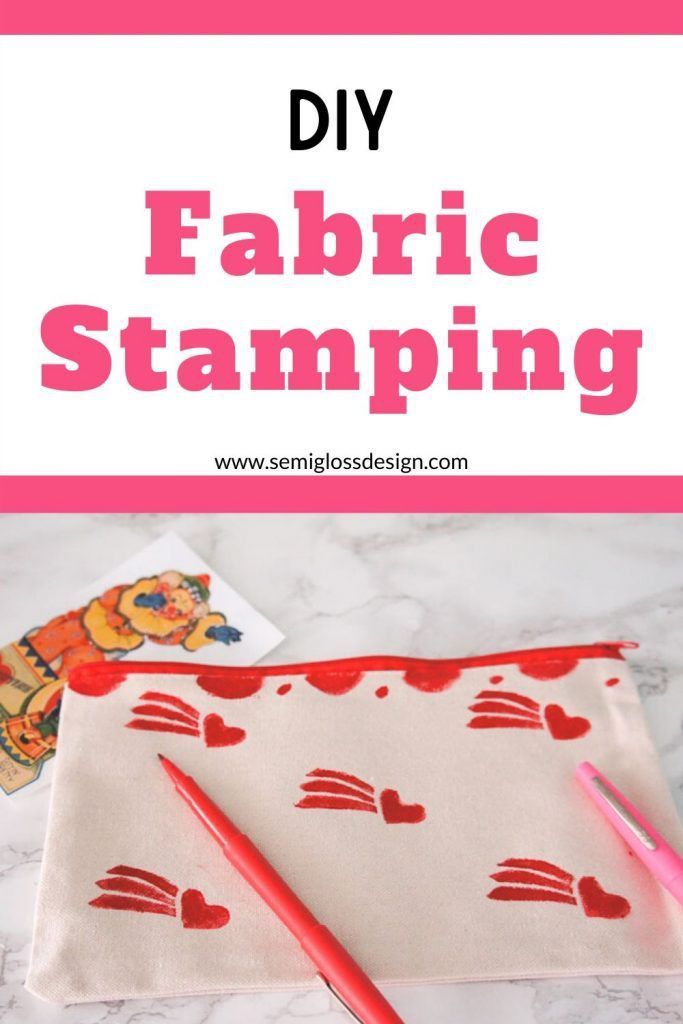 Make a DIY Stamp for Printing on Fabric - Semigloss Design #fabricstamping