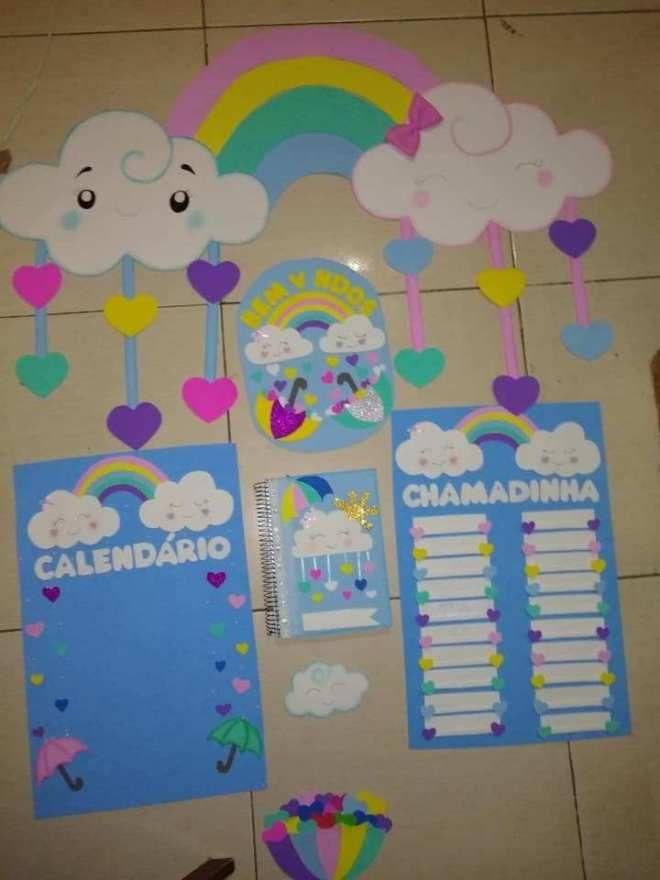 Decoração Chuva de Amor - Atividades para Berçário e Maternal