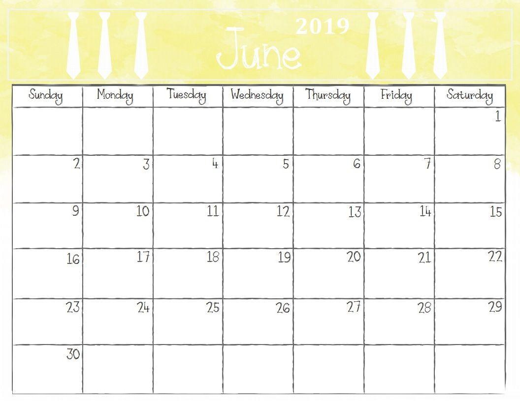 June 2019 Calendar Printable Template In Pdf Word Excel June