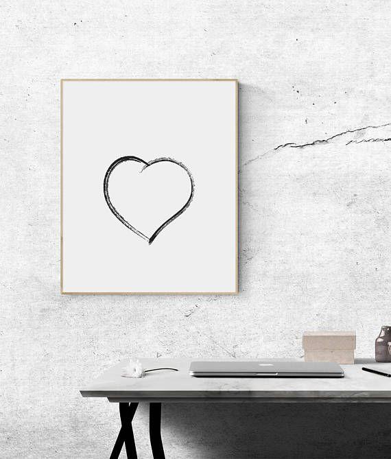 Heart Love Symbol Printable Wall Decor I Love You Print Love