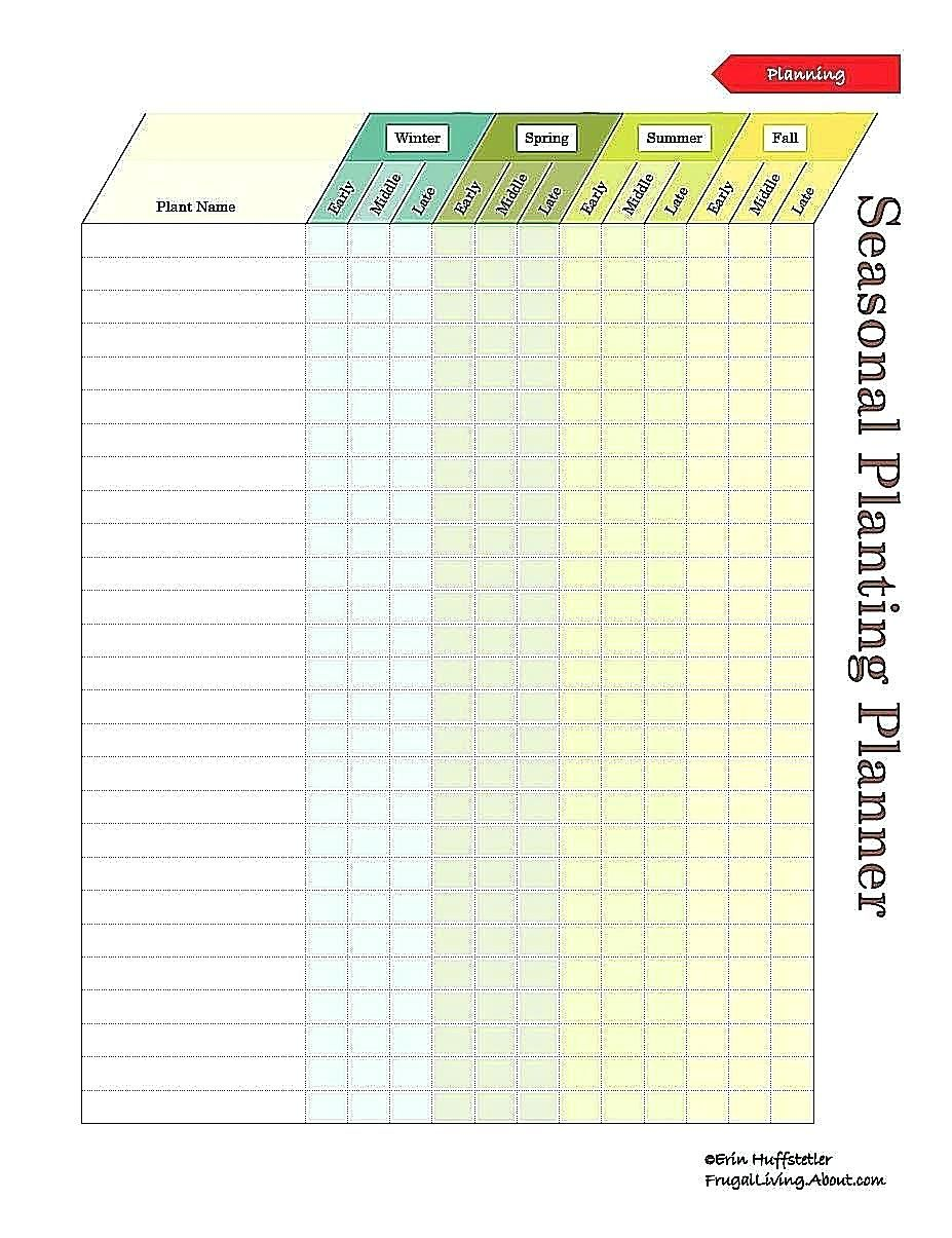 Garden Journal Template Excel