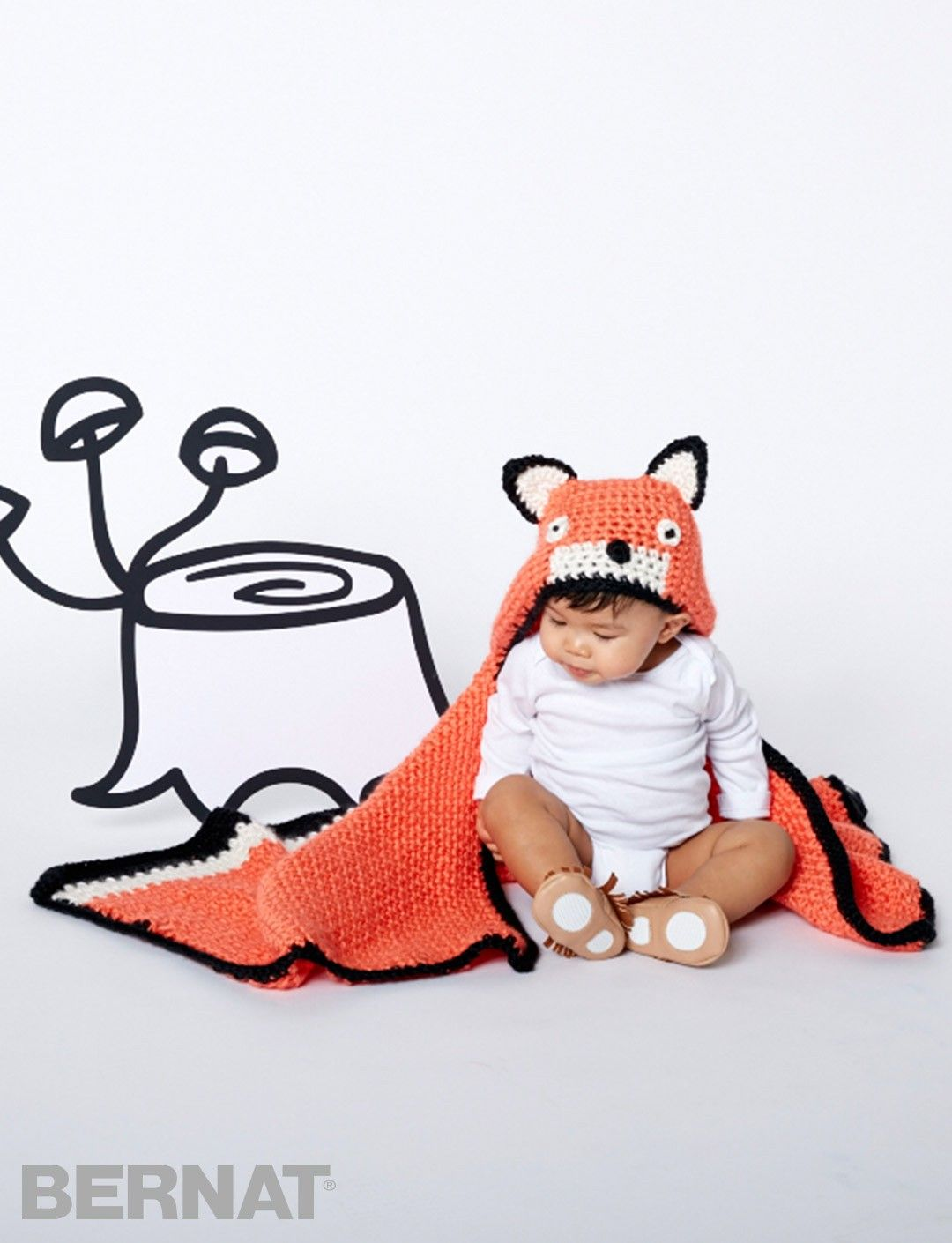 Like A Fox Blanket - Patterns | Yarnspirations | Baby | Pinterest ...