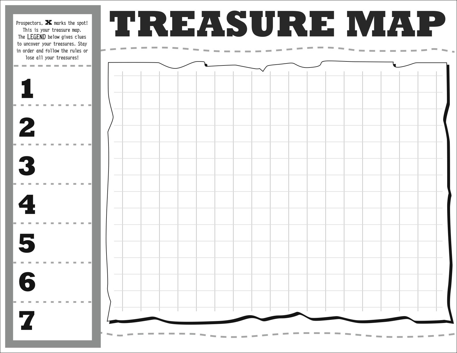 Treasure Map Diy Map Template Hip Hip Hooray With
