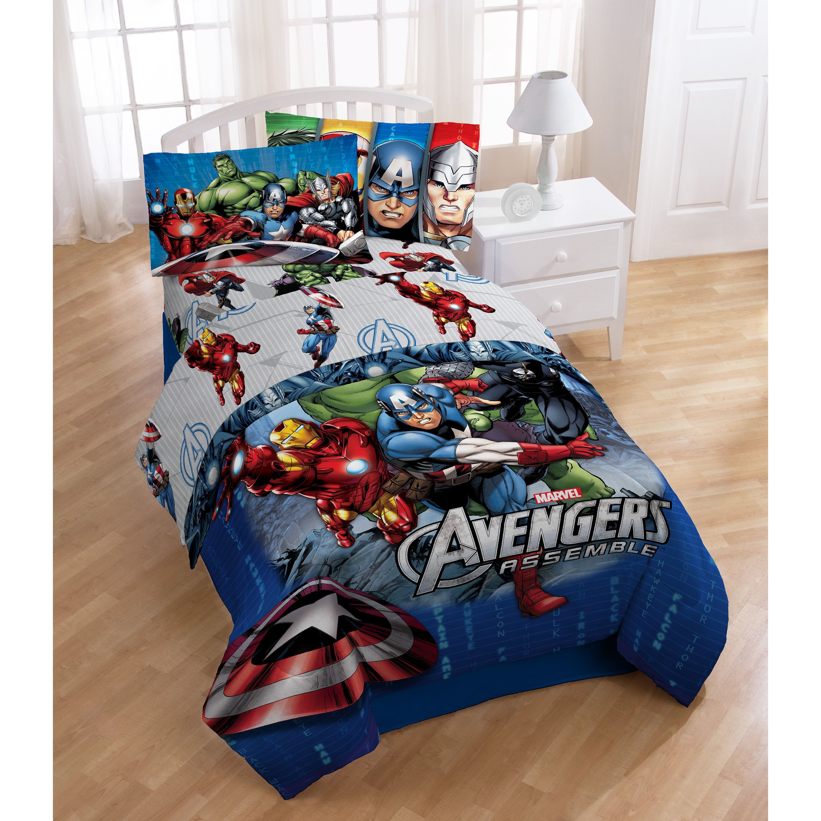 Avengers bedding set twin - Marvel Avengers Halo Twin 4 Piece Bed In A Bag Set By Marvel