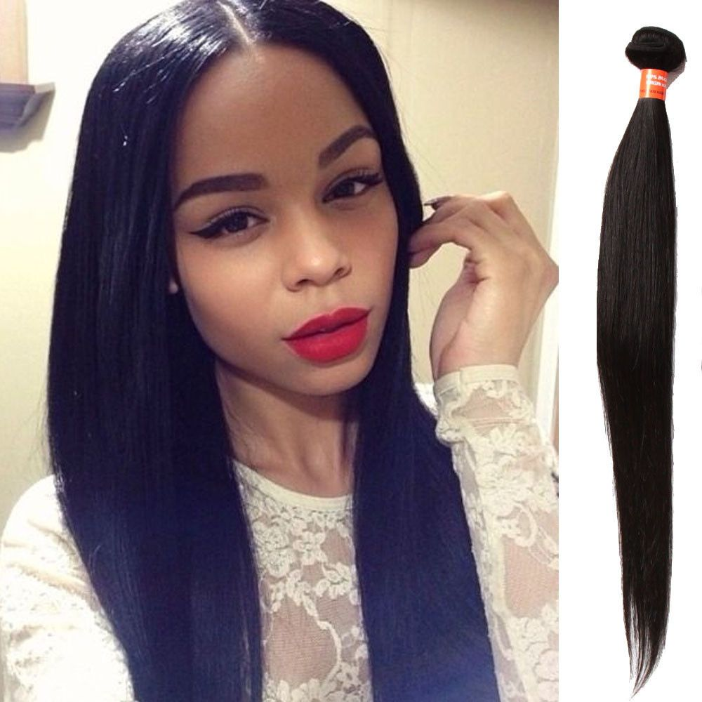 3bundles 12 150g Real Human Hair Extension Black Straight Hair Weft