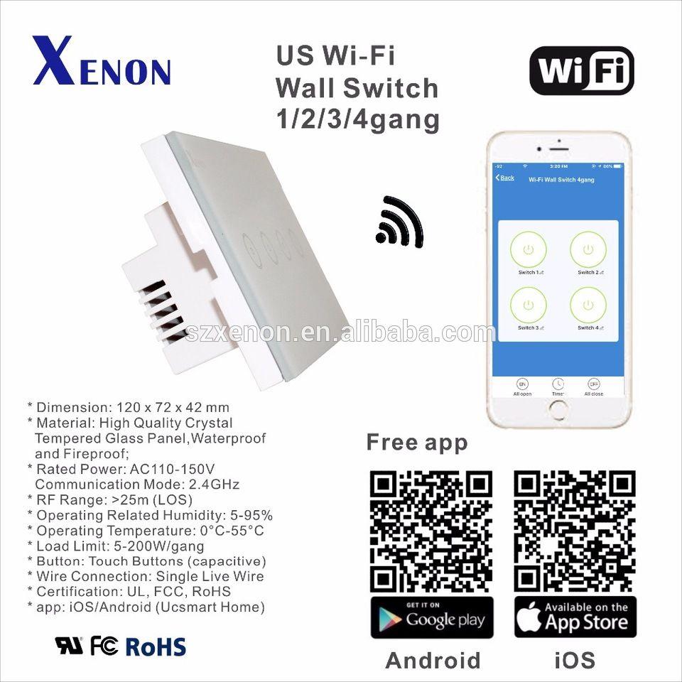 Xenon WiFi walll switch socket touch screen controller box light ...