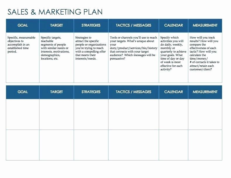 Sales Action Plan Template Excel Luxury Download by
