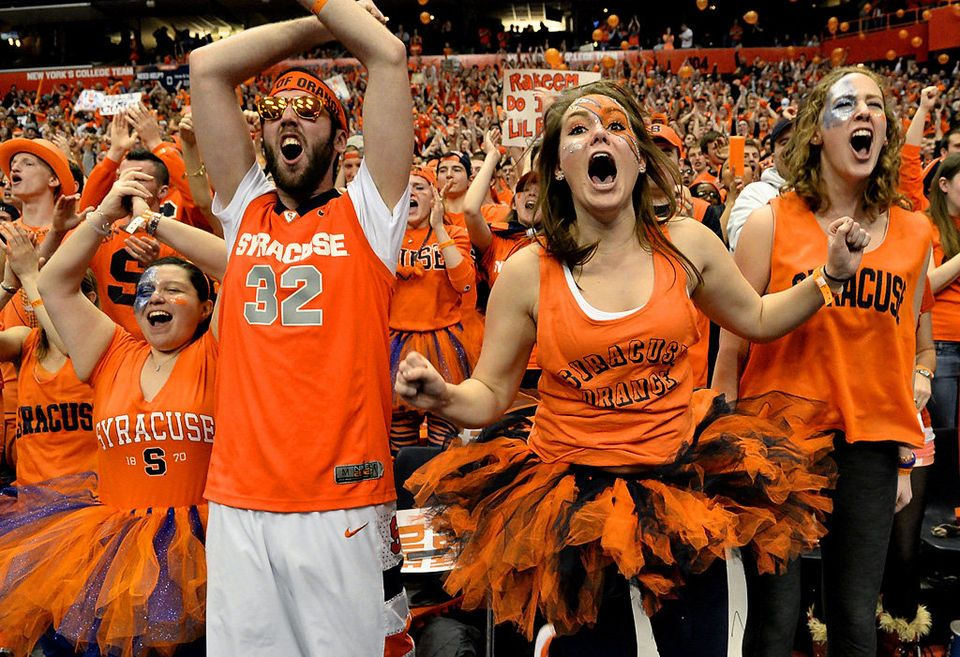 Fans At The Syracuse Duke Basketball Game Syracuse Basketball