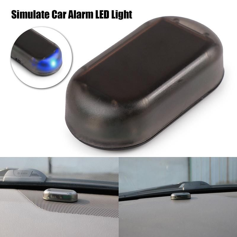 Fake Solar Car Vehicle LED Alarm Light Security System Warning Theft Flash Blink