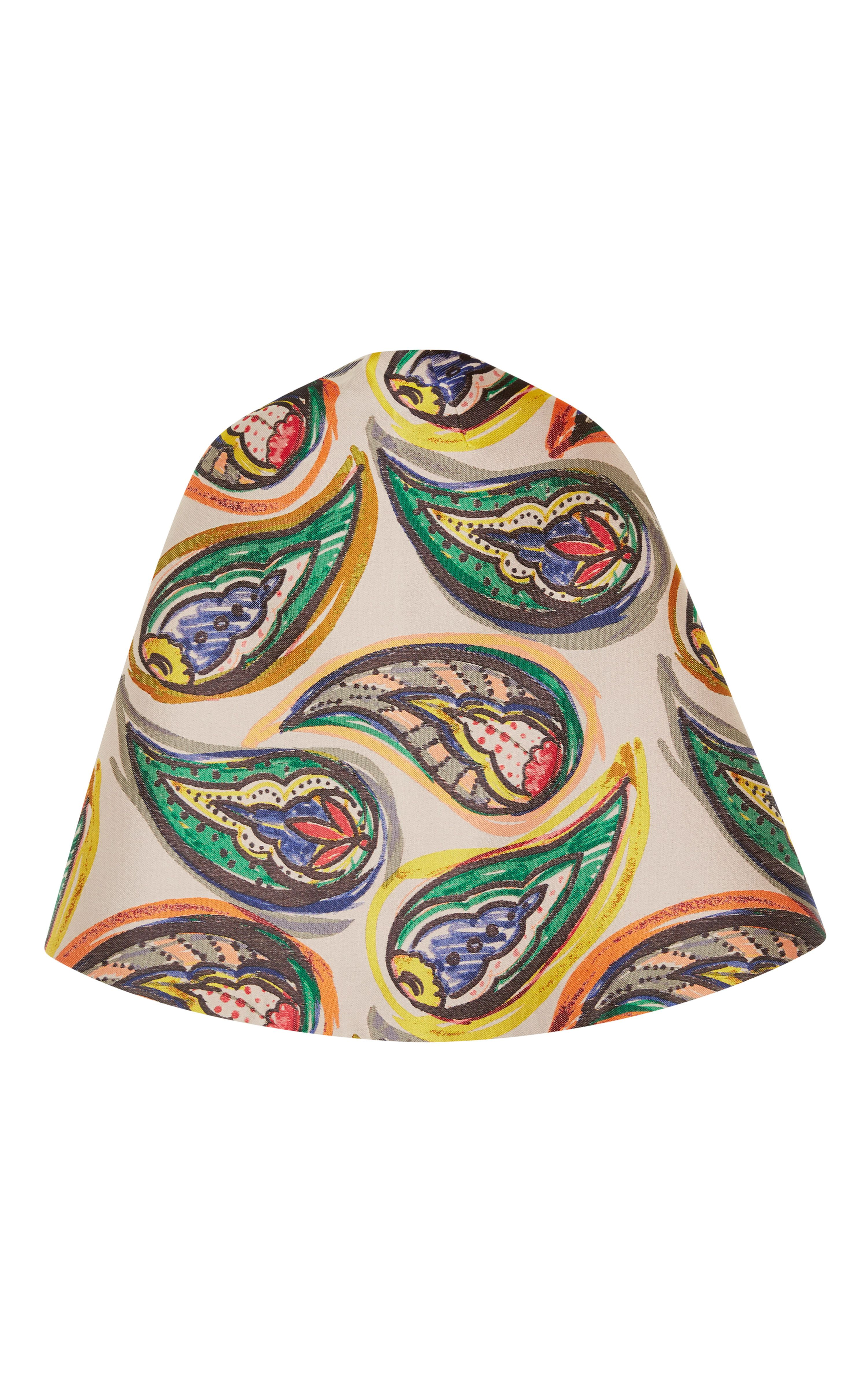 Cape In Multicolored Paisley Print by Vika Gazinskaya for Preorder on Moda Operandi