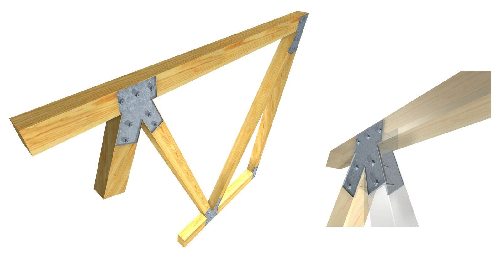 Galer a de 15 herrajes met licos para conectar estructuras de madera laminada arauco 3 - Estructuras de madera laminada ...