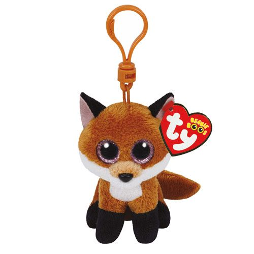 TY Beanie Boo Slick the Fox Keyring  f0a9139016c7
