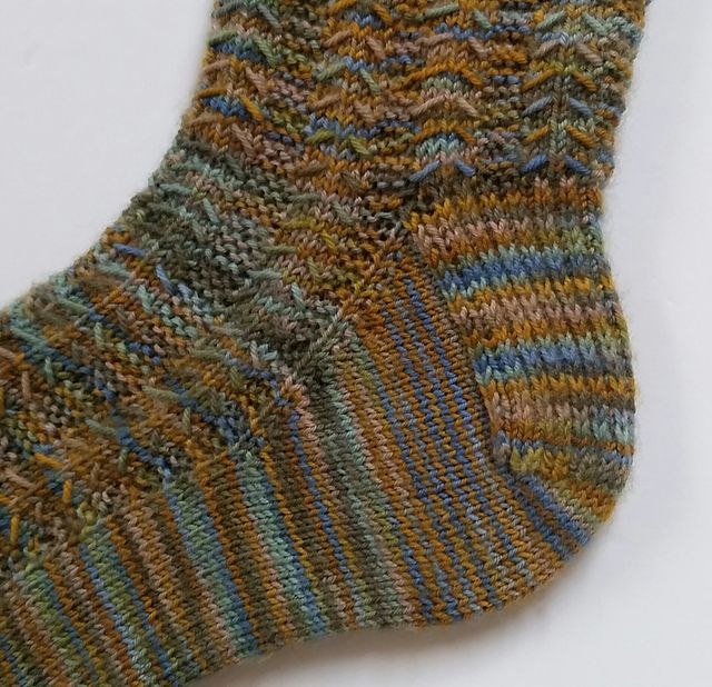 This pattern began with a lovely skein of variegated yarn ...
