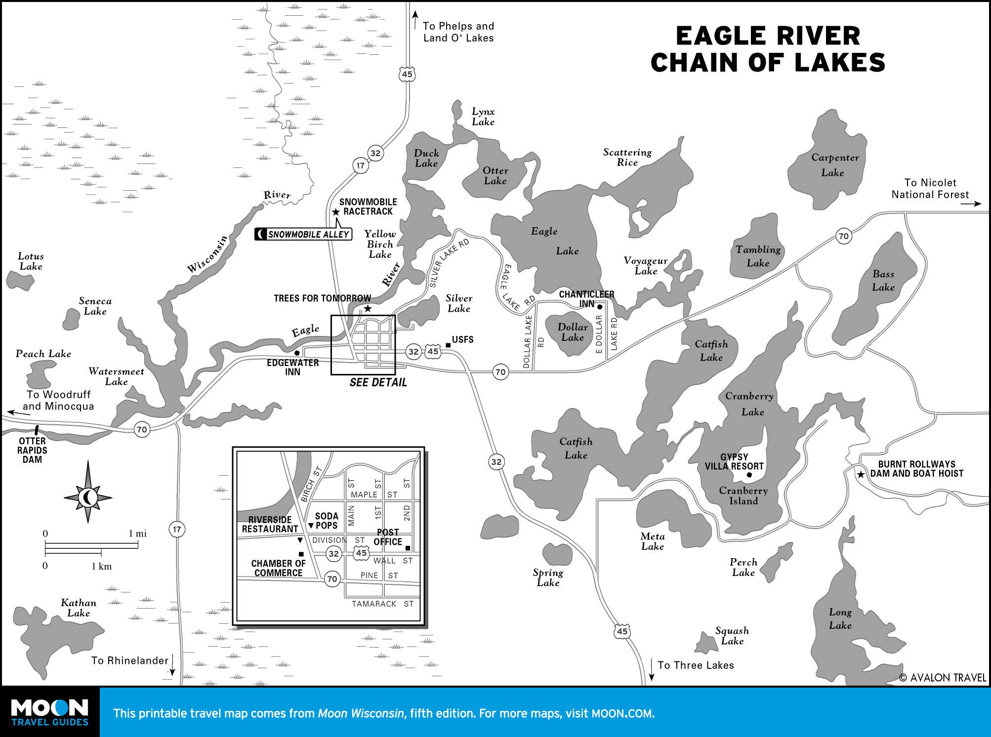 Eagle Rive Chain Of Lakes Eagle River River Lake