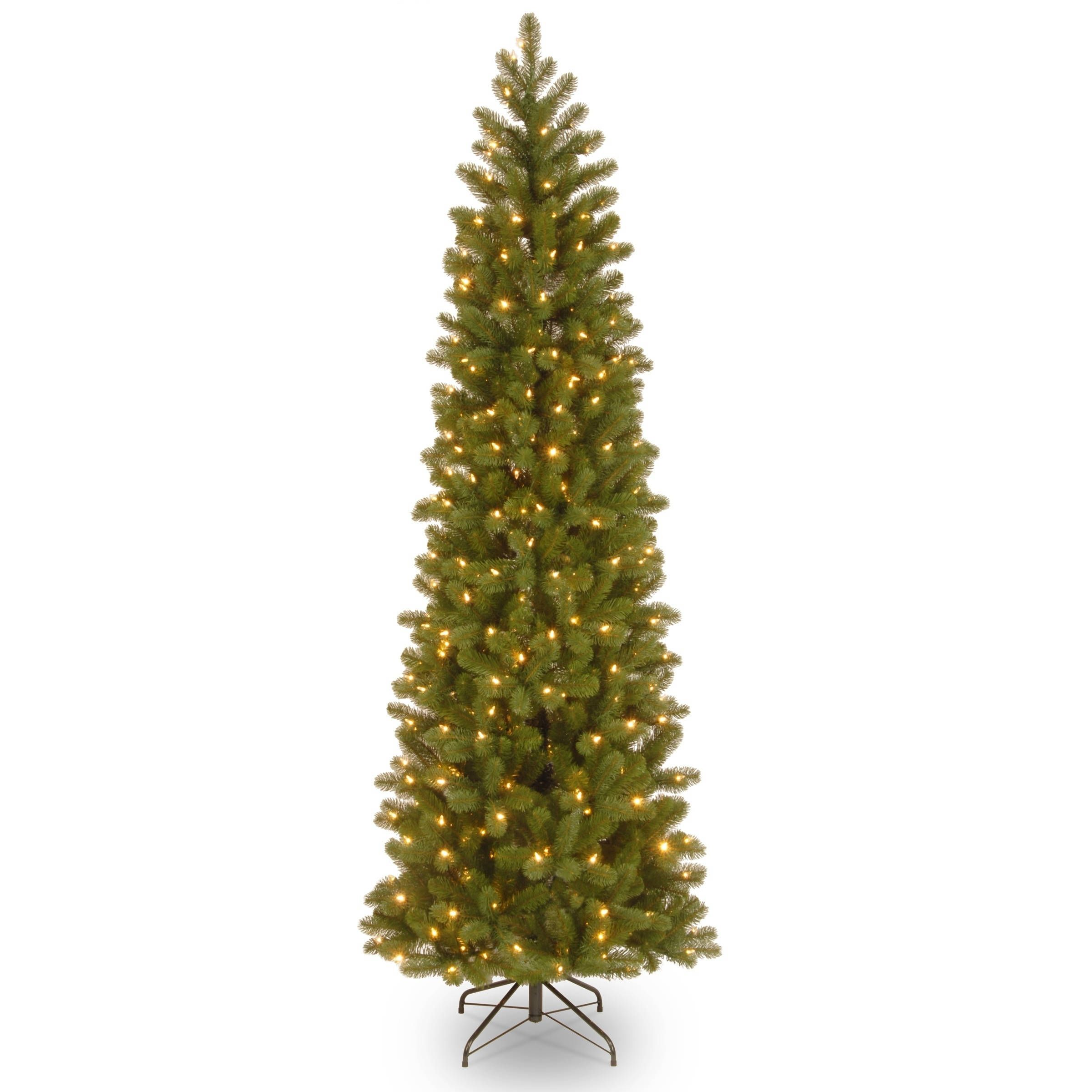 6 5 Ft Downswept Douglas Pencil Slim Fir Tree With Clear Lights Green National T Douglas Fir Christmas Tree Fir Christmas Tree
