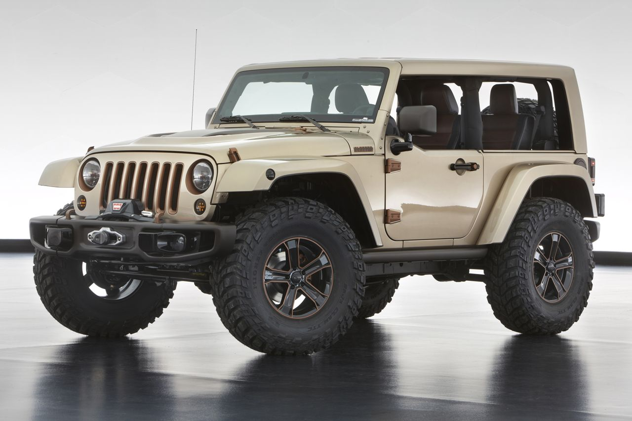 the jeep wrangler flattop boasts a chopped windowless hard top