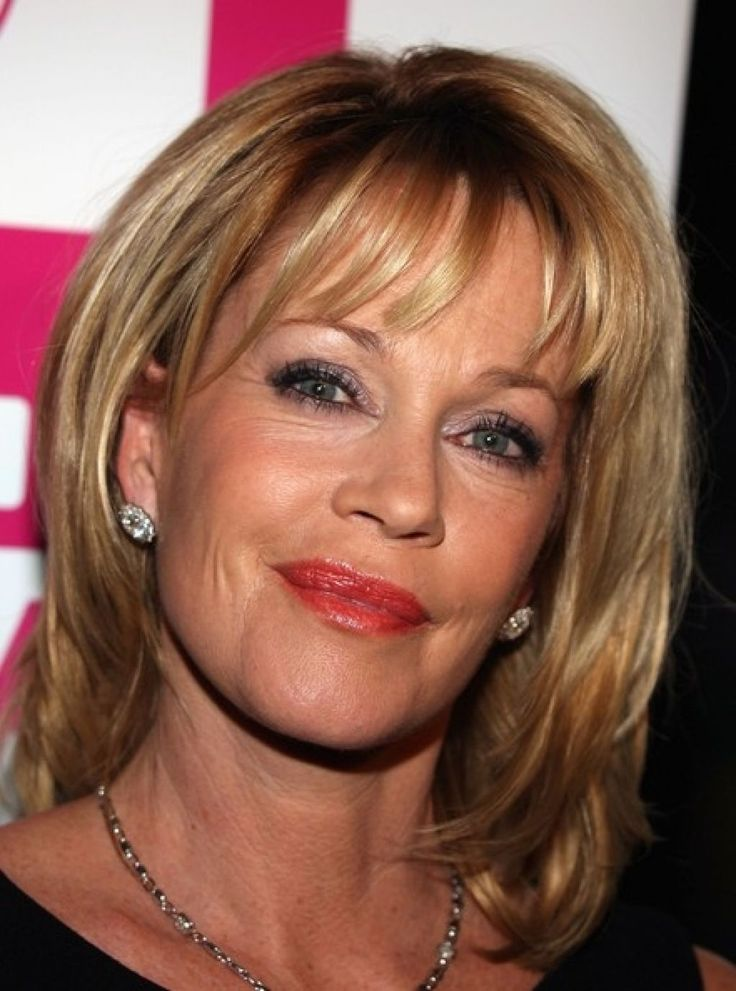Shoulder Length Hairstyles For 50 Year Old Woman : Kate capshaw short blonde messy haircut with bagns for women over