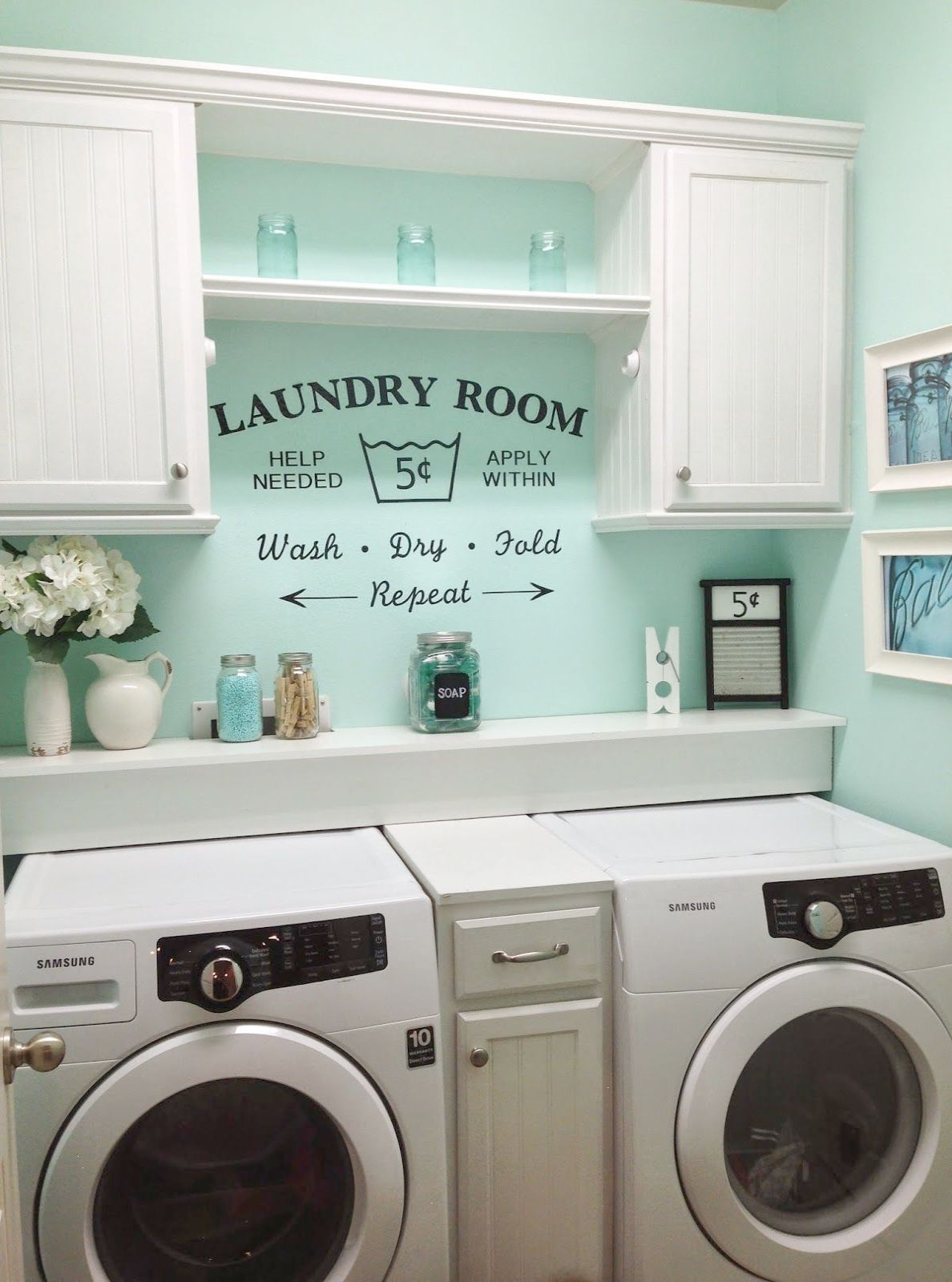 Rustic shabby chic laundry room vintage vinyl decal small laundry rustic shabby chic laundry room vintage vinyl decal small laundry room solutioingenieria Choice Image