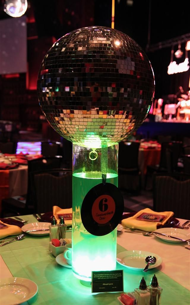 Image result for how to make 1970 centerpieces   Disco