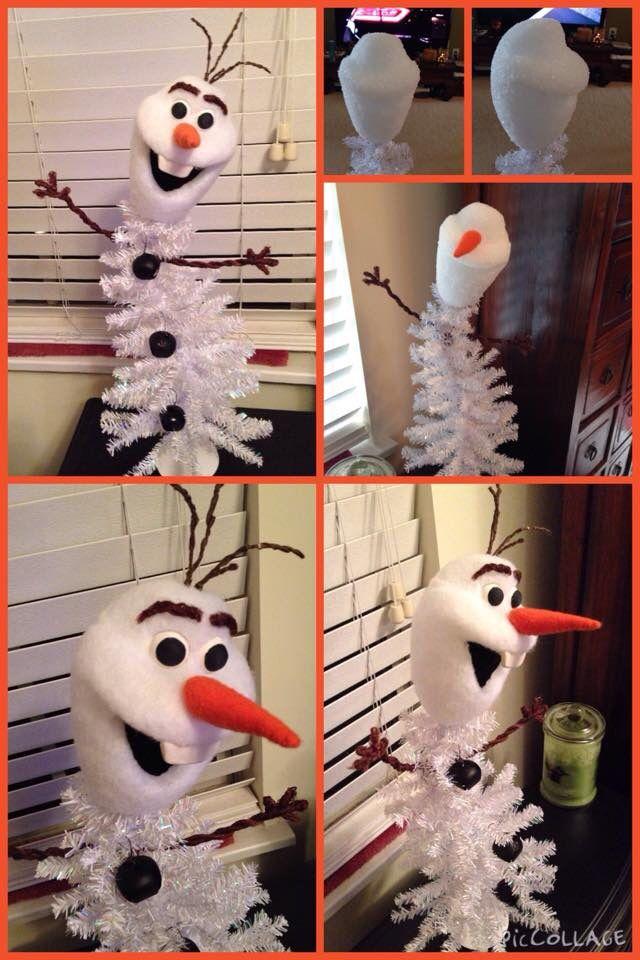 Olaf Christmas Trees.Olaf Christmas Tree It Was Made Out Of A Styrofoam Ball I